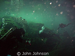 diving in the cenotes of playa del carmen by John Johnson 